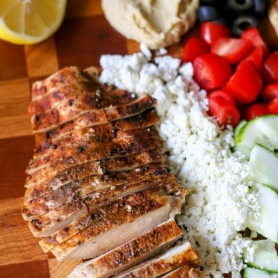 Israeli Spice Rub Grilled Chicken Pitas