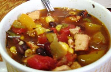Easy chicken tortilla soup (gf)