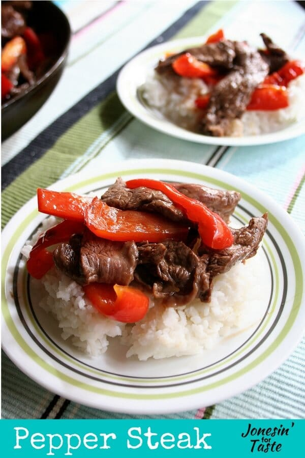 With just 6 ingredients, Pepper Steak is perfect for a weeknight dinner and full of tangy Asian flavors. Prep the meat and let it marinate overnight. Come home and have it ready in 15-20 minutes!