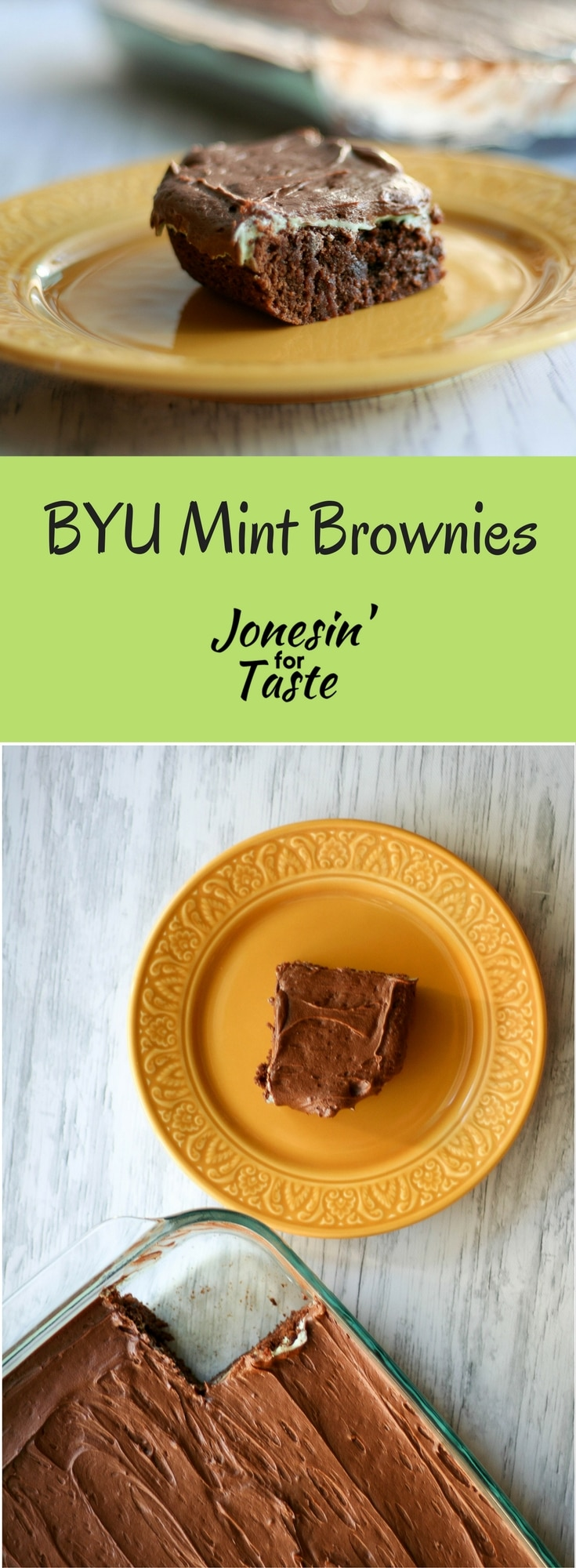 Homemade mint brownies are easier to make from scratch than you think.  With simple homemade frostings these mint brownies are brownies elevated. #homemadebrownies