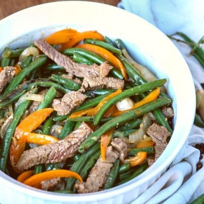 Cantonese Style Black Pepper Beef with Green Beans
