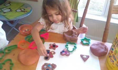 Homemade Playdough- Apple, Pumpkin, and Gingerbread