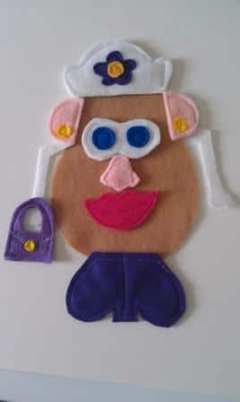 Mr. and Mrs. Felt Potato Head