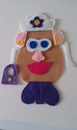 Mr and Mrs Felt Potato Head