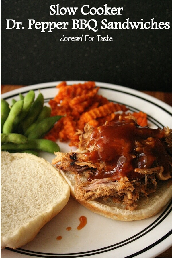 Crock-pot Dr. Pepper BBQ Sandwiches