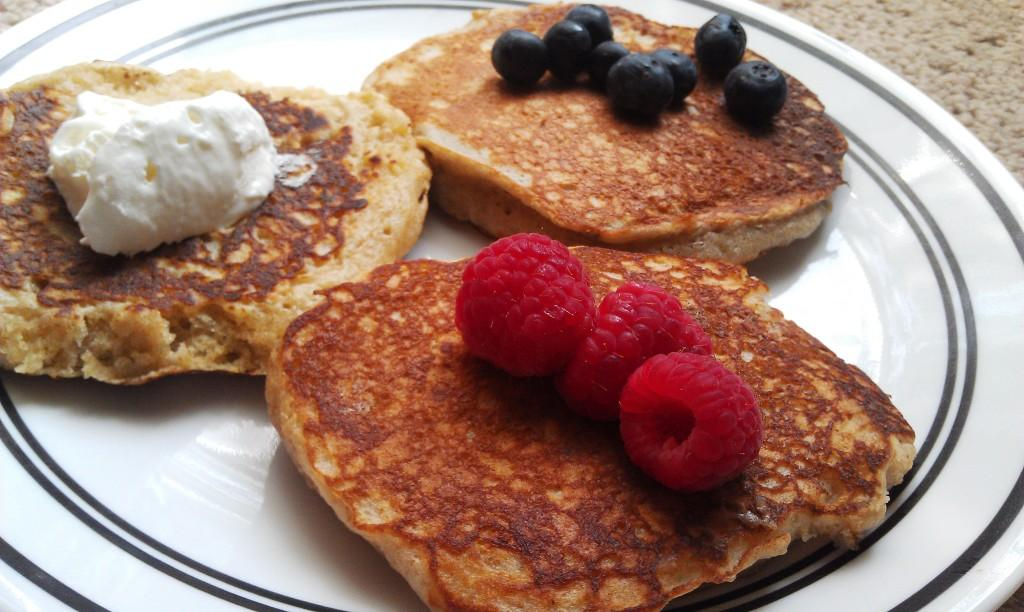 Whole Wheat Yogurt Pancakes