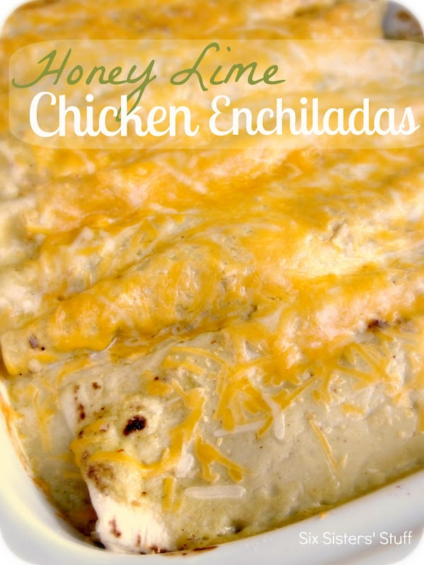 My Pinterest Meals- Honey Lime Chicken Enchiladas meal ideas