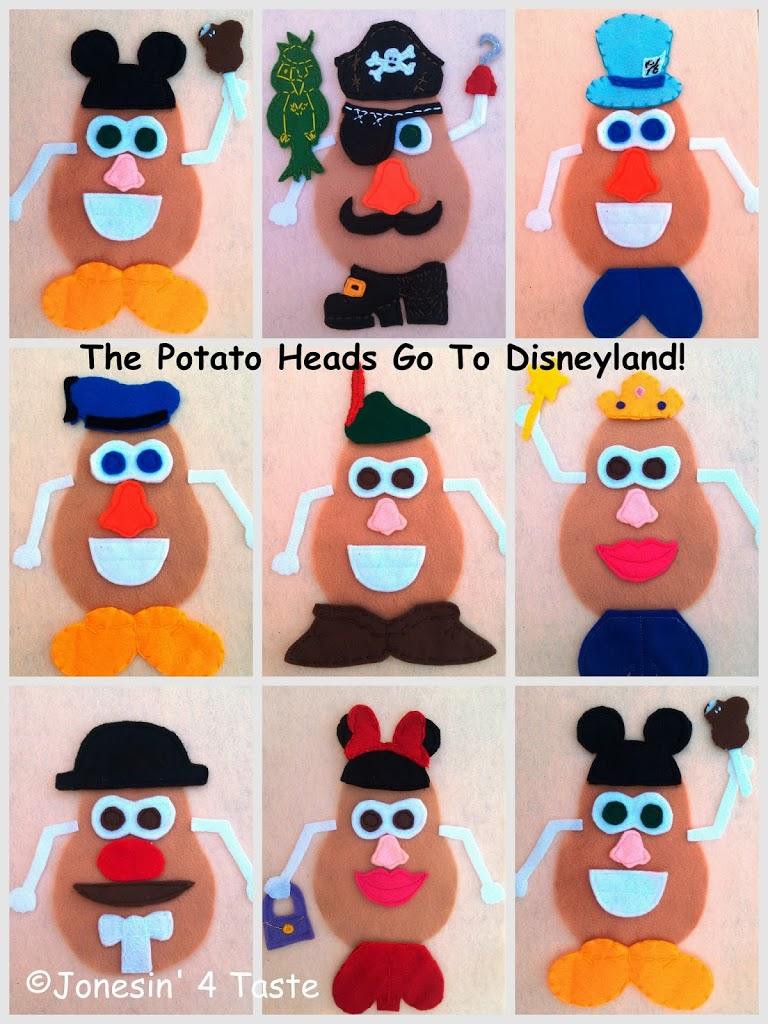 Disney Felt Potato Heads- Perfect to take along on a road trip and for those Disney-addicts in your life.