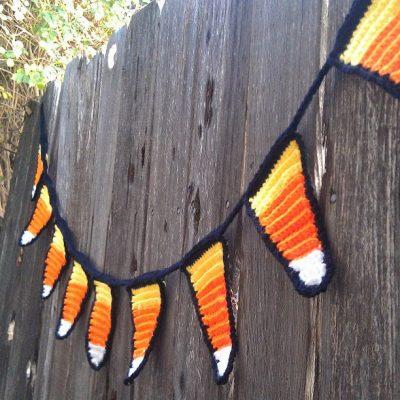 Crochet Candy Corn Garland