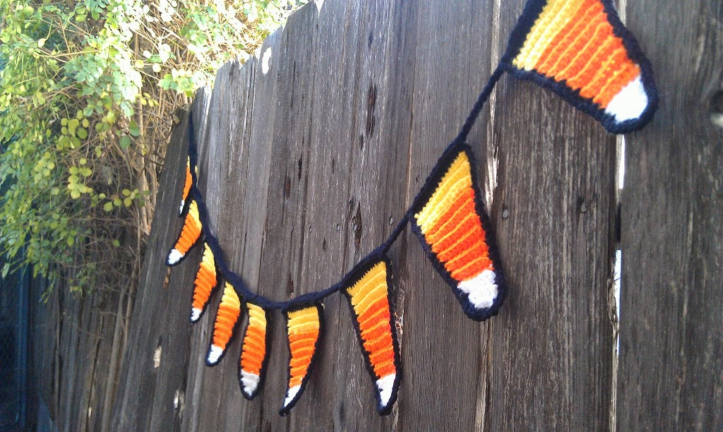 Crochet Candy Corn Garland