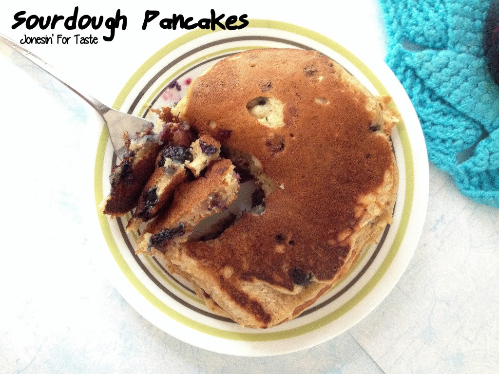 Sourdough Pancakes are a delicious use for sourdough starter removed when feeding- and a tasty way to change up the breakfast routine!