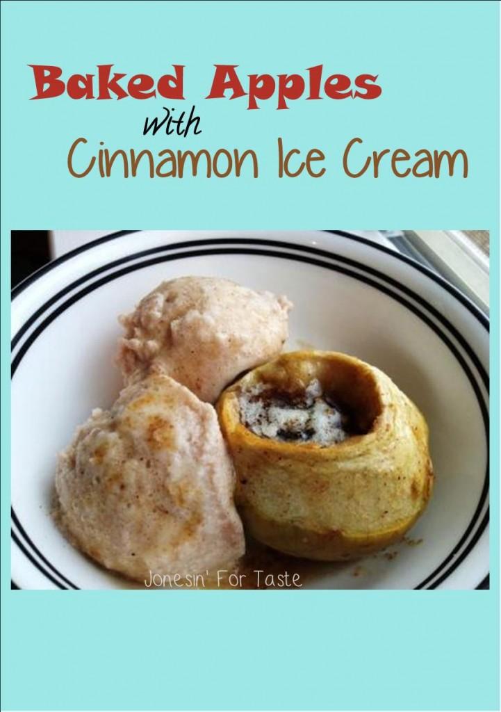 Baked apples with Cinnamon Ice Cream