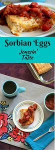 Sorbian Eggs is an easy cheesy mix and pour breakfast casserole perfect for brunch for a crowd!