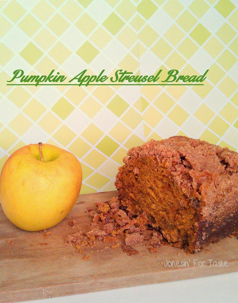 Delicious dessert bread-Pumpkin Apple bread with streusel topping
