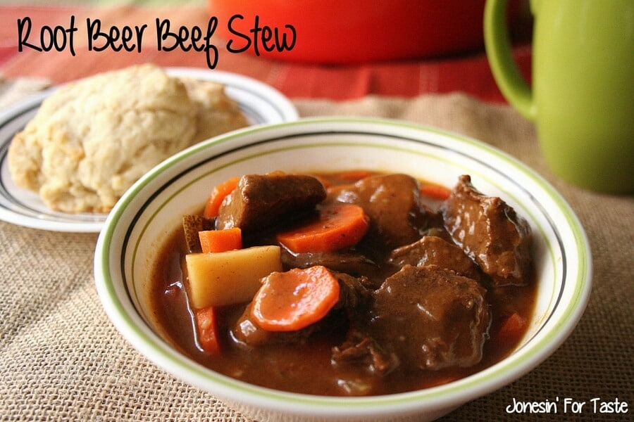 Sweet, rich, and hearty this Root Beer Beef Stew is simple to make on the stove or in the slow cooker and is sure to satisfy even the biggest eaters.