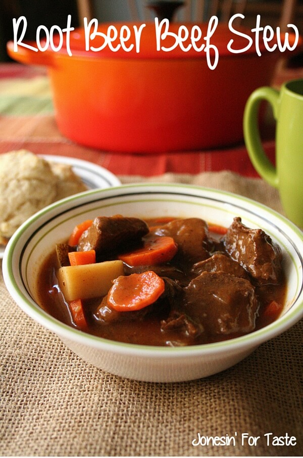 Sweet, rich, and hearty this Root Beer Beef Stew is simple to make on the stove or in the slow cooker and is sure to satisfy even the biggest eaters. #slowcooker #beefstew