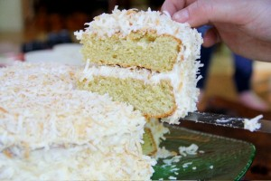 Triple Coconut Cake