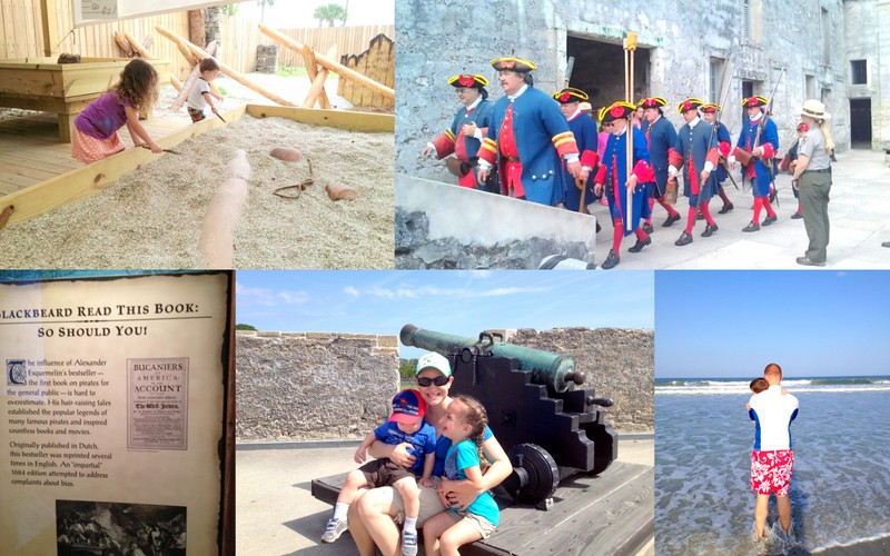 collage showing pictures of my family's trip to St Augustine