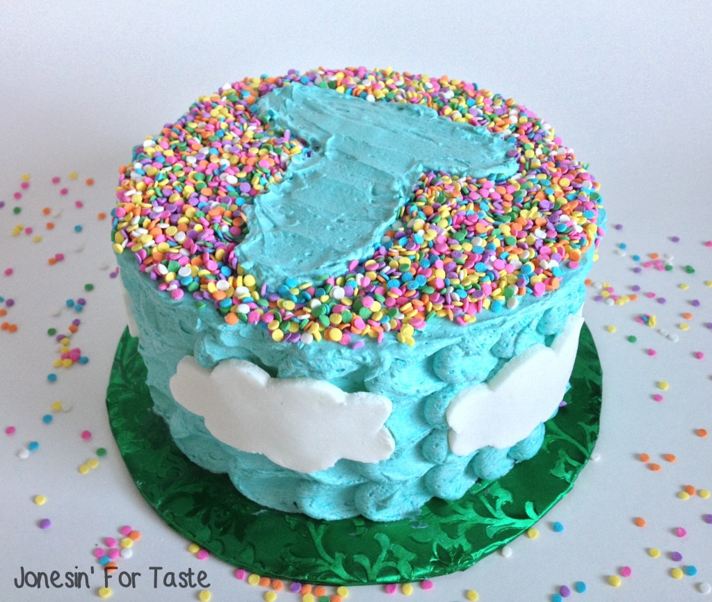 Sprinkle Initial Cloud Cake