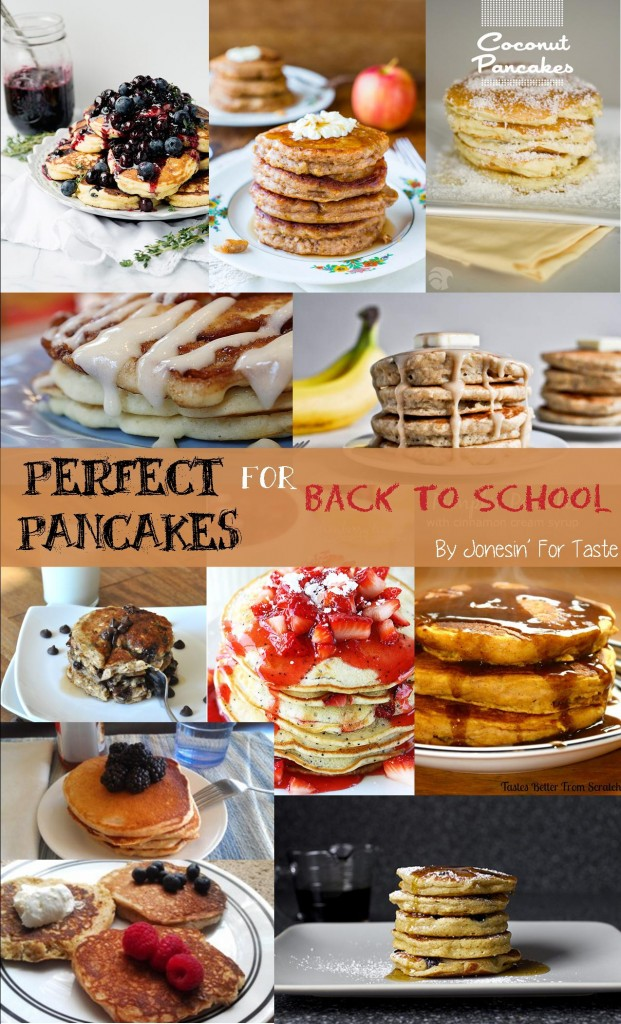 A plethora of pancakes to start your mornings off right. Perfect for those busy school mornings. Make double batches and freeze for later.