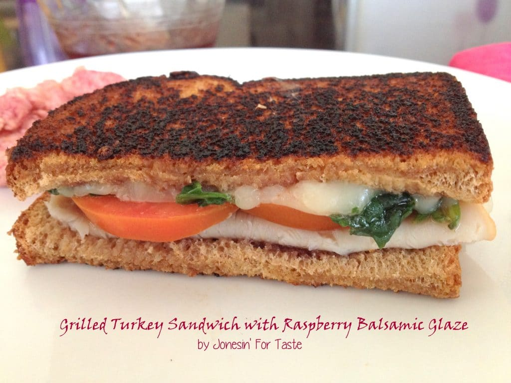 Grilled Turkey Sandwich with Raspberry Balsamic Glaze