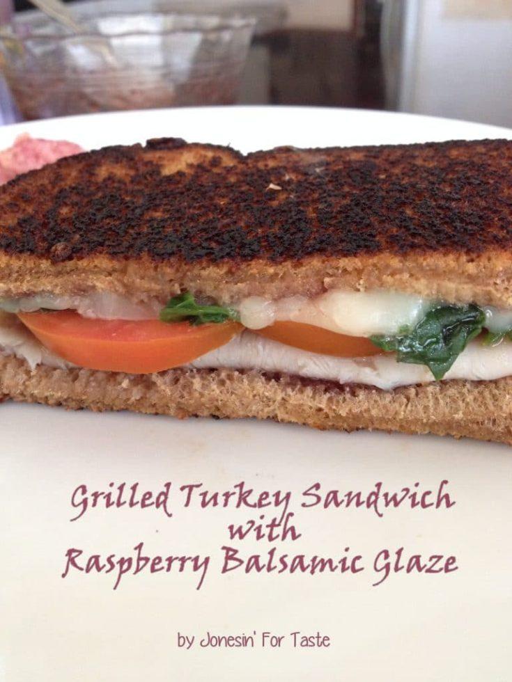Grilled Turkey Sandwich with Raspberry Balsamic Glaze