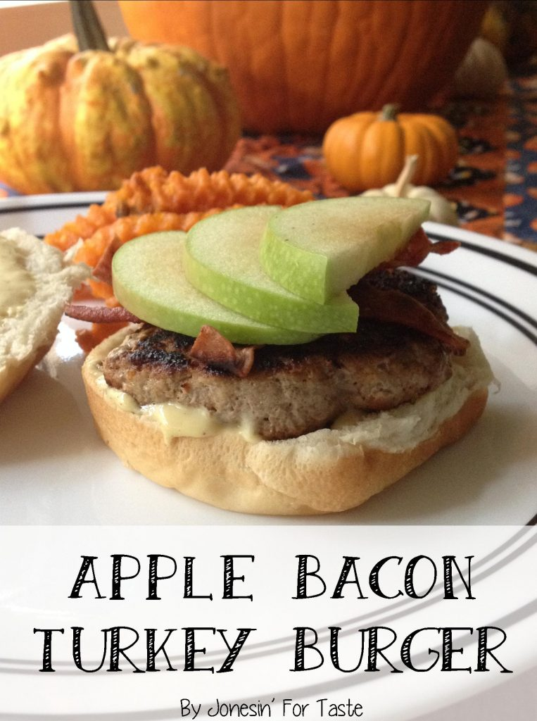 Apple Bacon Turkey Burgers with Honey Mustard Sauce | Jonesin' For Taste