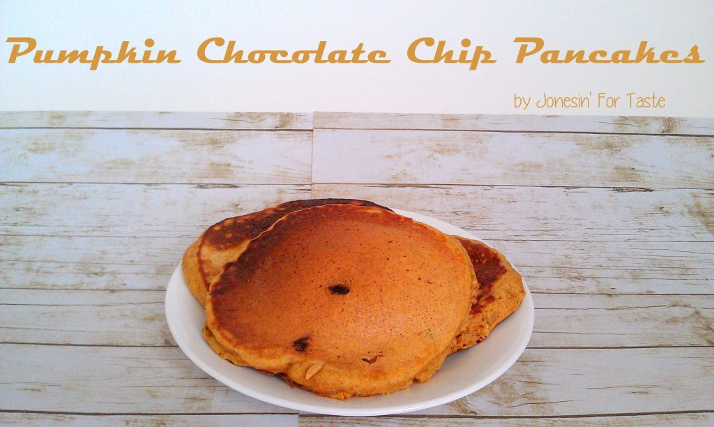 Pumpkin Chocolate Chip Pancakes- Basic pantry ingredients combine for a fantastic fall breakfast