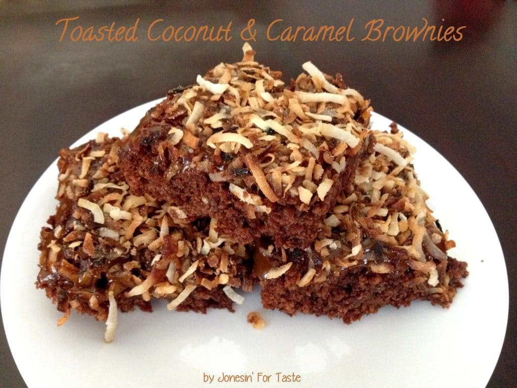 Toasted Coconut and Caramel Brownies