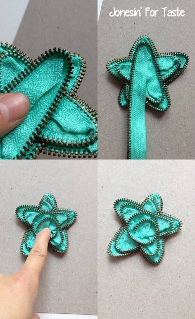 DIY Zipper stars-Upcycle old zippers into cute accessories | Jonesin' For Taste
