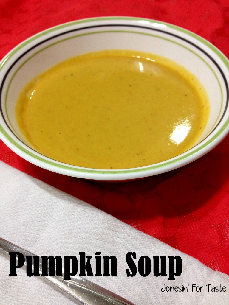 Pumpkin Soup- Incredibly easy to make and full of wonderful savory flavors.