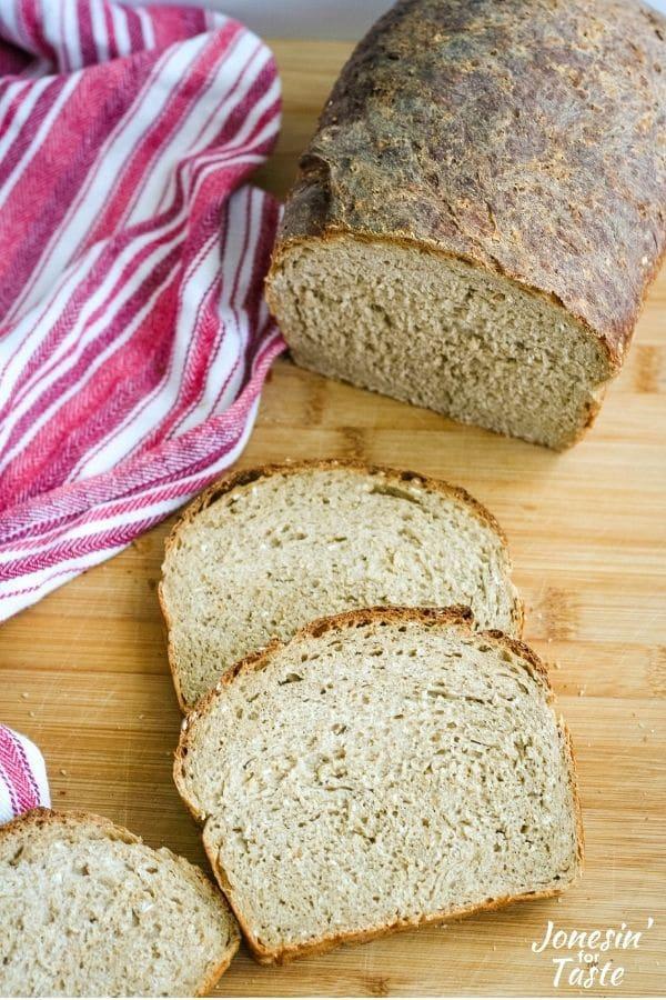 A loaf of Bread machine Oatmeal Breakfast Bread