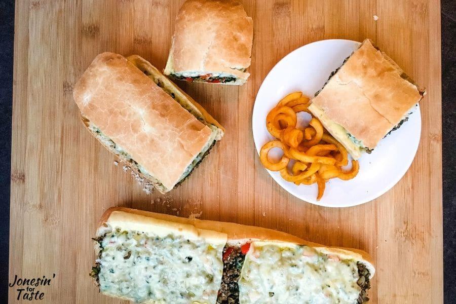 Sausage Stromboli Sandwich