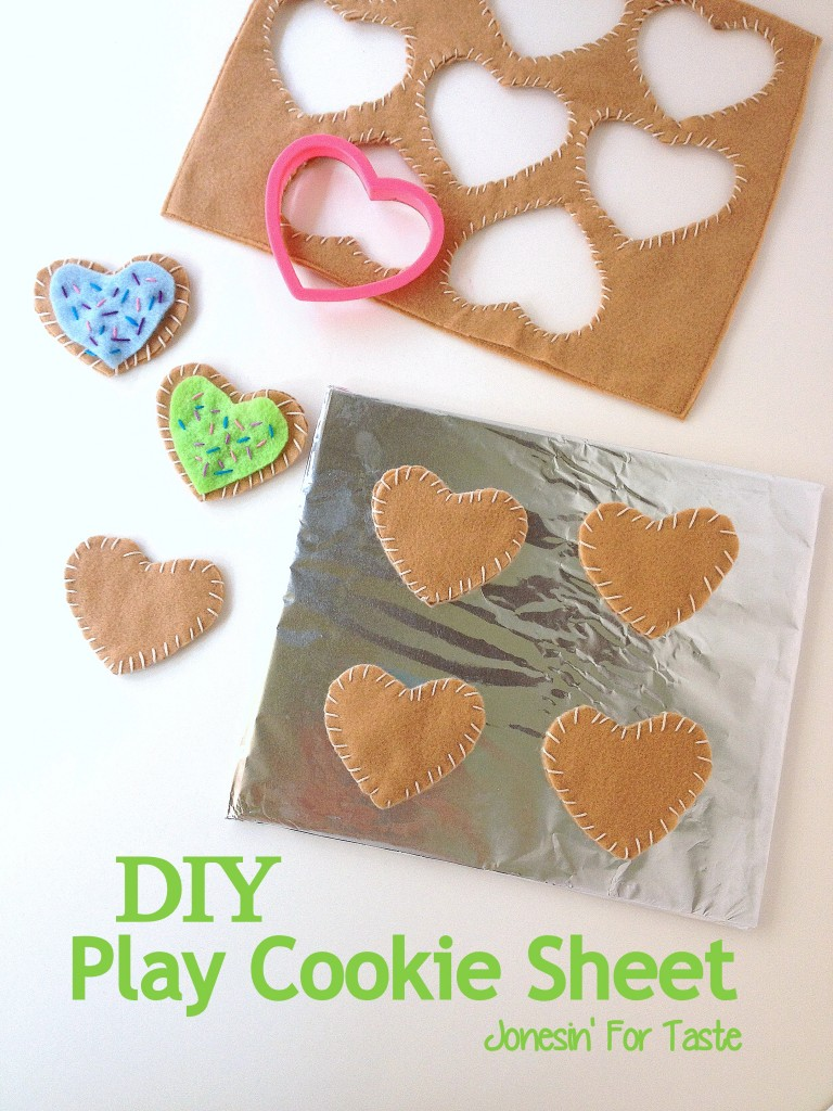 DIY Play Cookie Sheet recycle cardboard with foil and hot glue