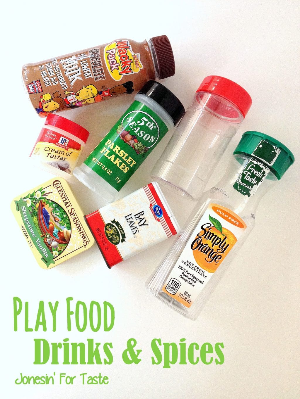 Play Food Set- Drinks and Spices