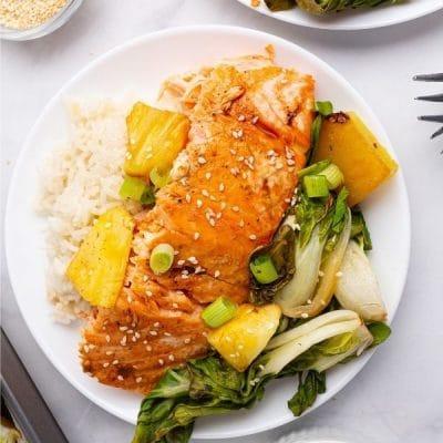 Lime Teriyaki Oven Baked Salmon