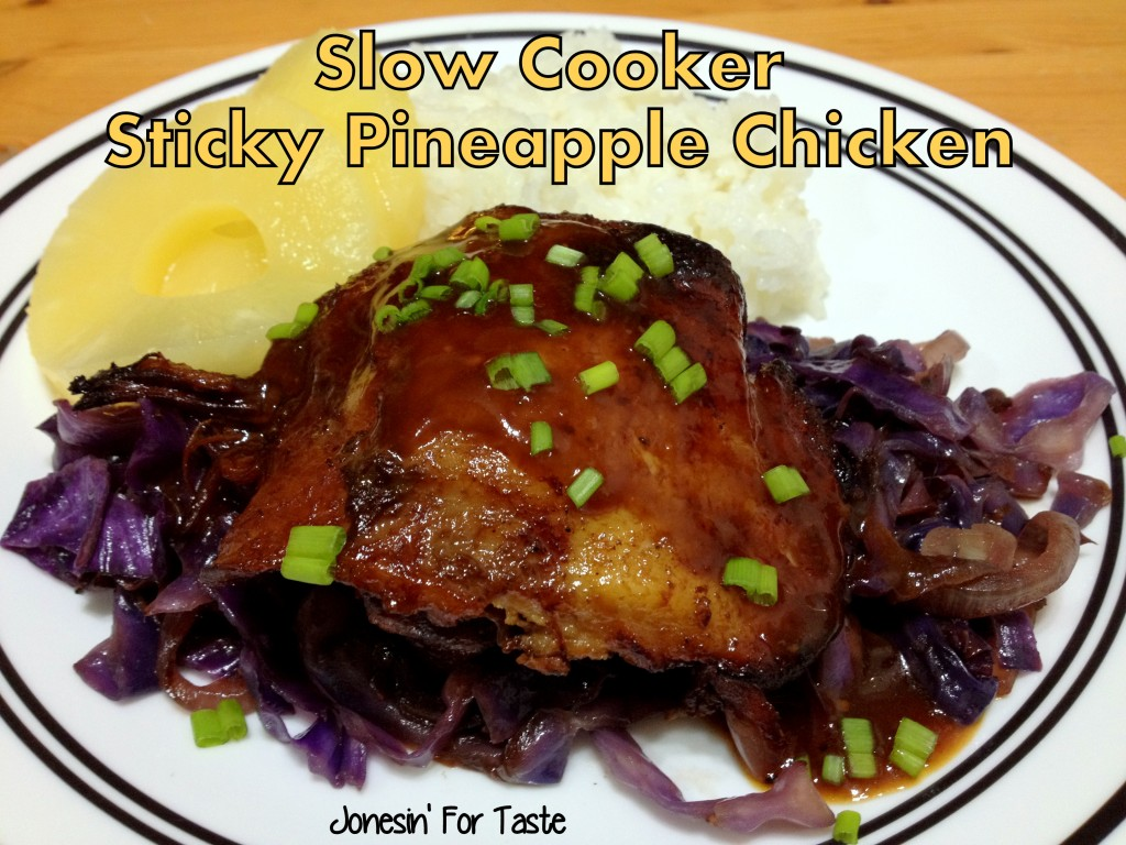Sticky and crispy pineapple chicken made in the slow cooker.