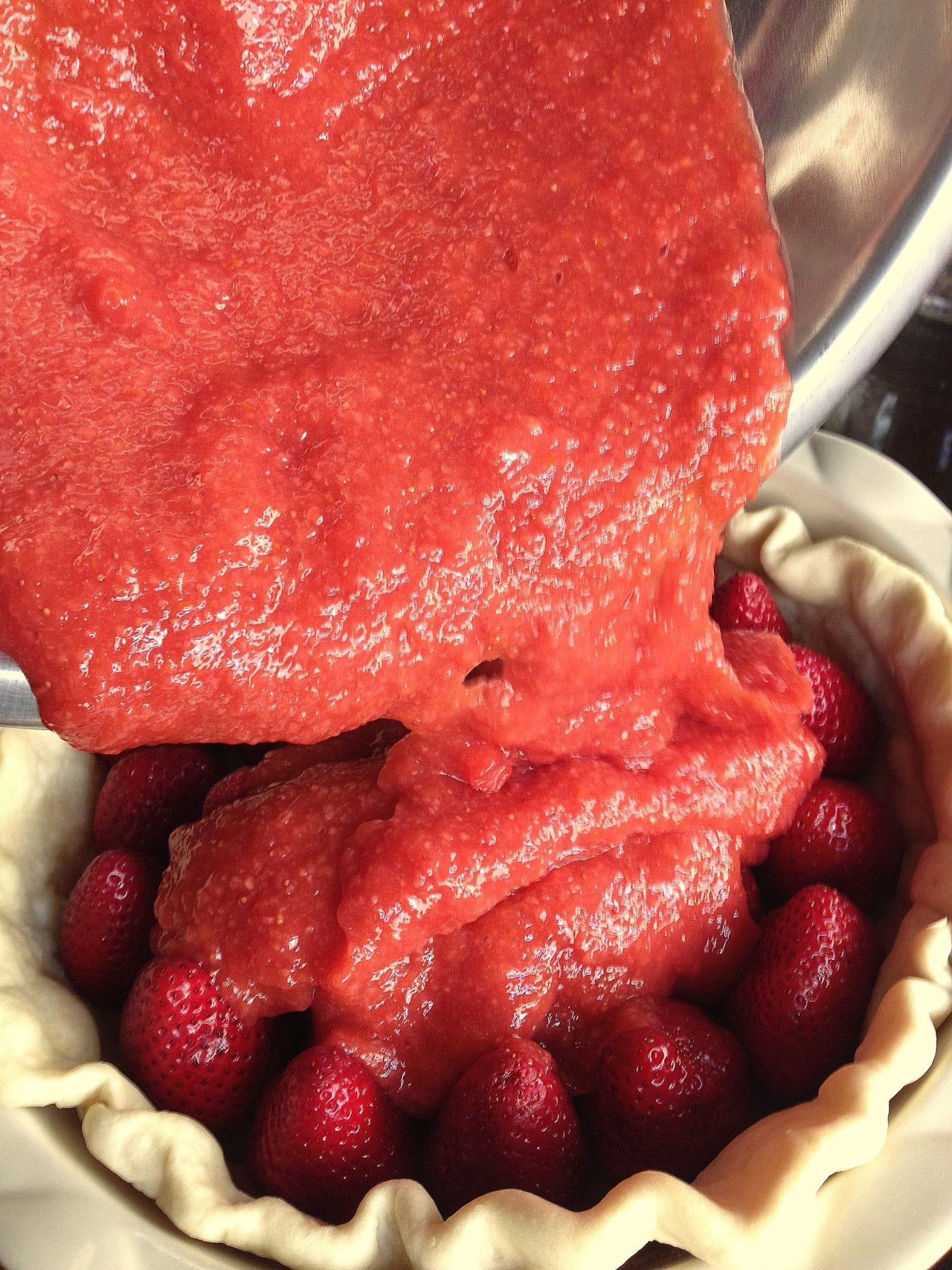 No Bake Fresh Strawberry Pie