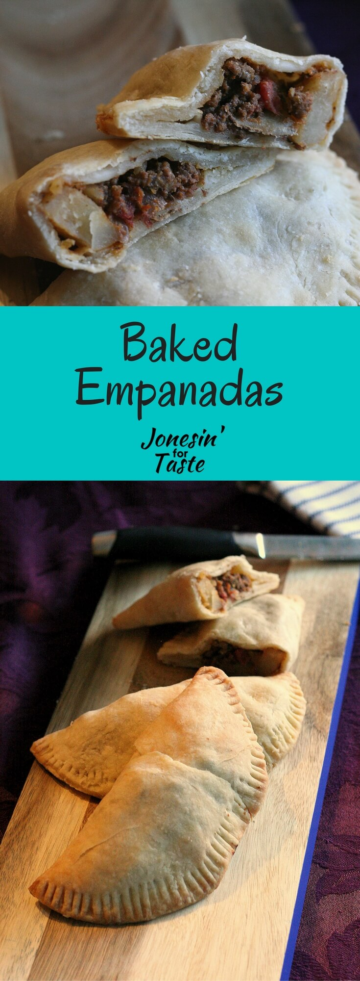 Homemade baked empanadas are full of amazing flavor stuffed with ground turkey, corn, potatoes, and can be fried instead, if desired.