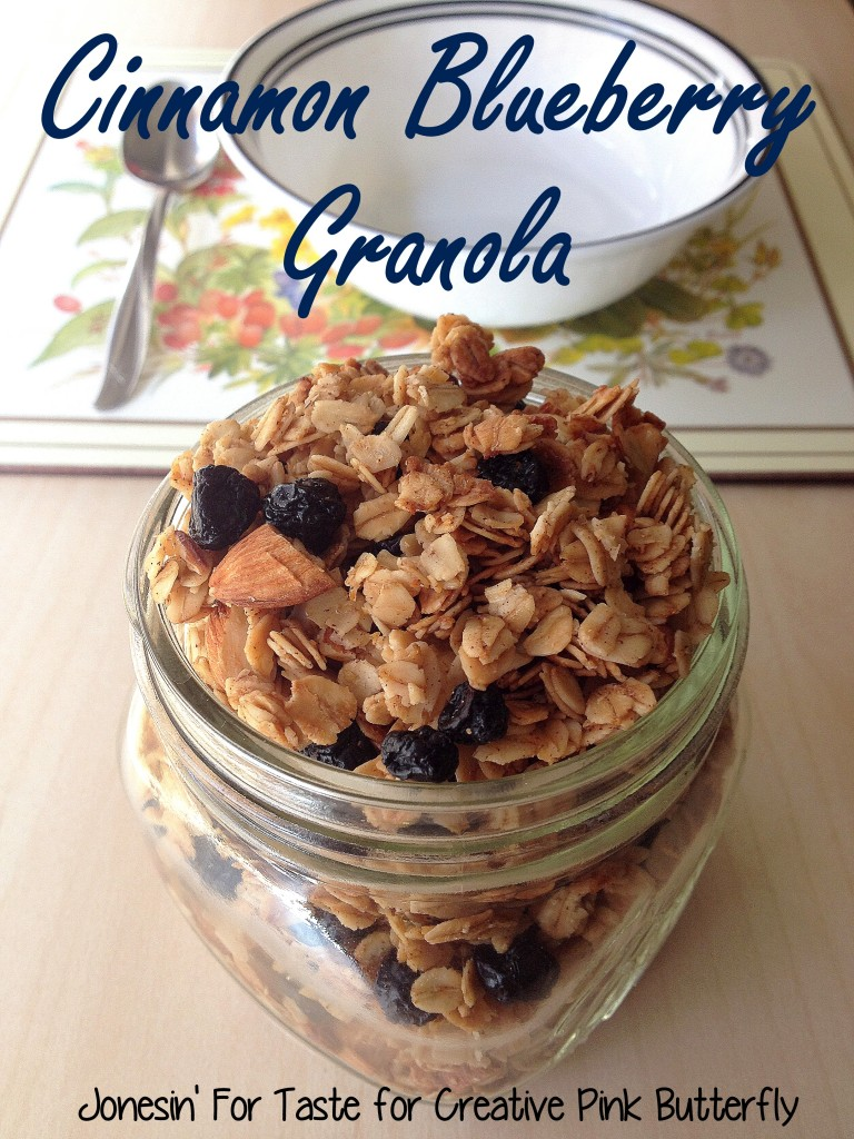 This Cinnamon Blueberry Granola is easy to make at home with the kids and has great cinnamon flavor without being overly sweet.  Perfect for fall and the new school year.
