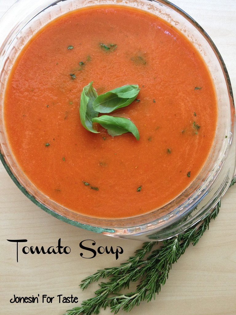 Tomato Soup can be made in 30 minutes from scratch and gets the perfect consistency from a blender (plus a giveaway)