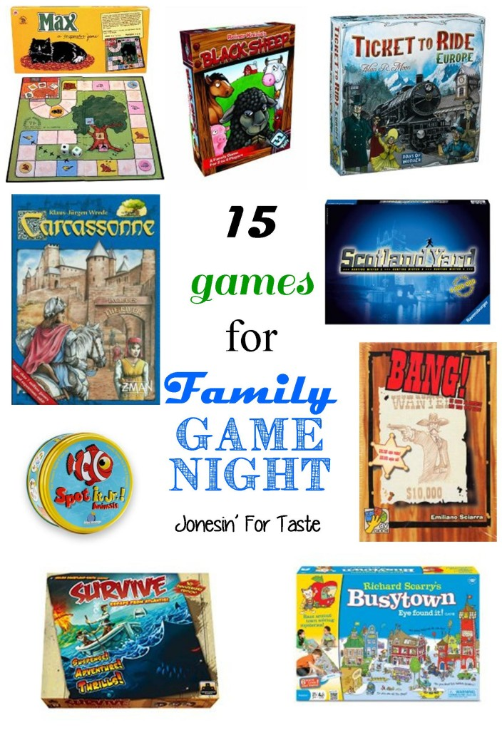 Family Game Night can be fun no matter what ages your kids are.  You are bound to find a few games to play with your family from these 15 family favorites.