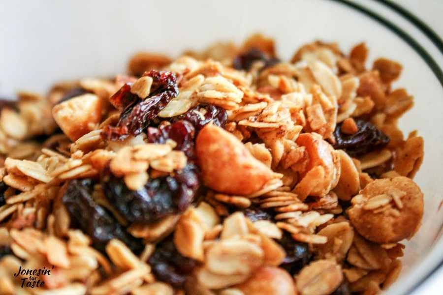 Oats, macadamia nuts, and dried cherries
