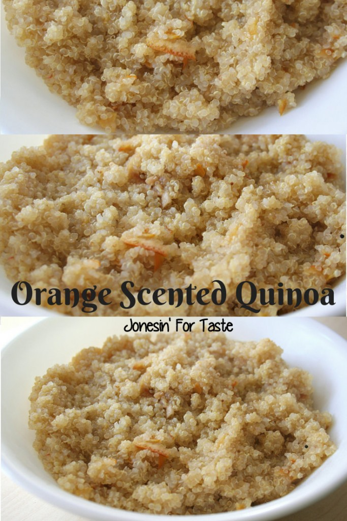 Orange scented quinoa sounds fancy but your usual quinoa is elevated with the secret ingredient- orange marmalade.