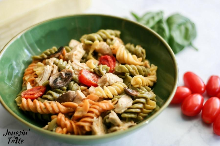 Easy Kale Pesto Chicken Alfredo
