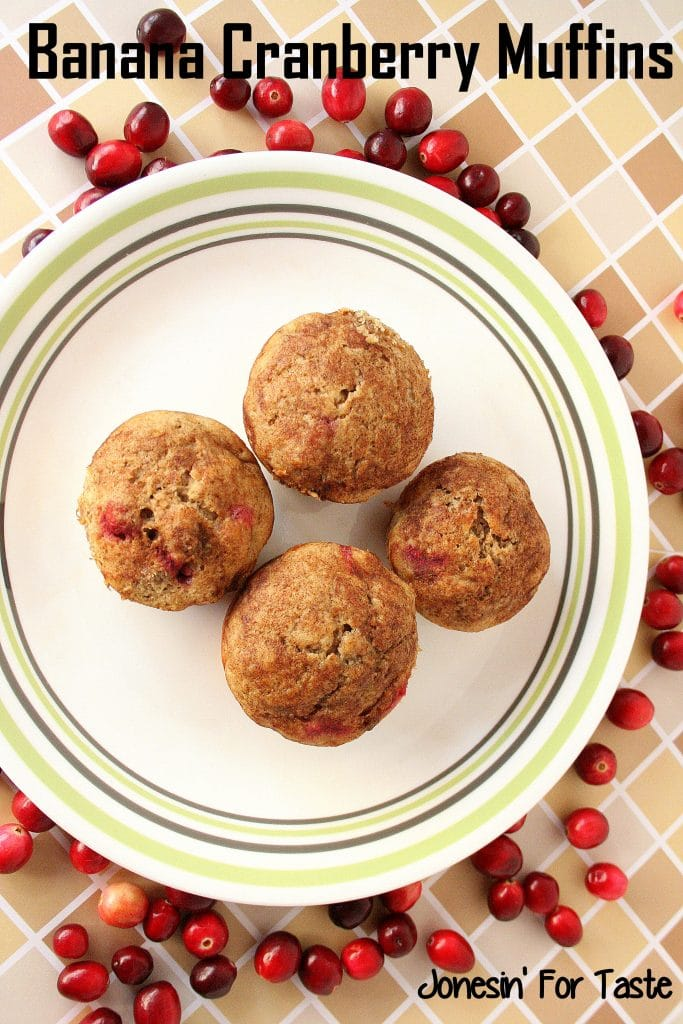 Tart cranberries contrast with sweet bananas for the perfect breakfast treat!