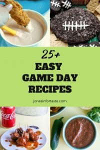 Collage of recipes for game day