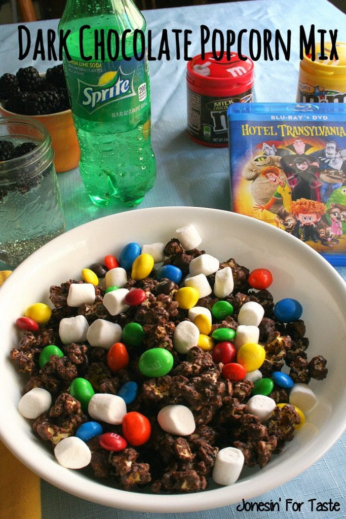 #ad Make Family Movie Night an awesome event for everyone with a special Dark Chocolate Popcorn mix! #MakeItAMovieNight