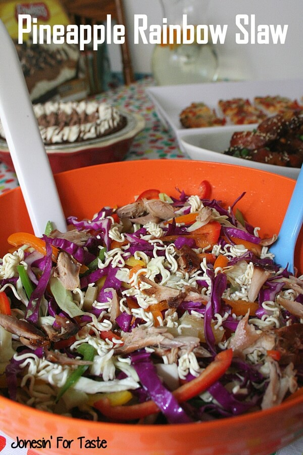 Pineapple Rainbow Slaw