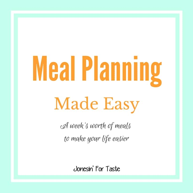 Does meal planning have you stressing out? I've got you covered with a full week's worth of meal ideas!